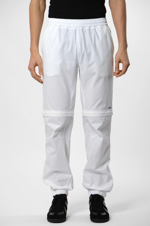 MSGM White Convertible Trackpants 1