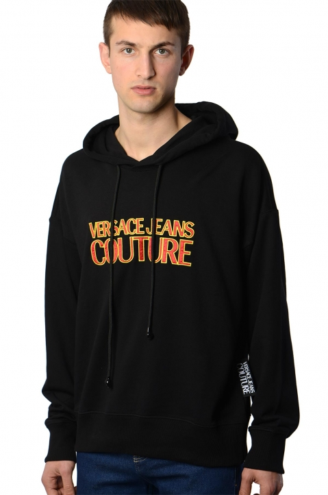 VERSACE JEANS COUTURE Logo Black Hoodie 0