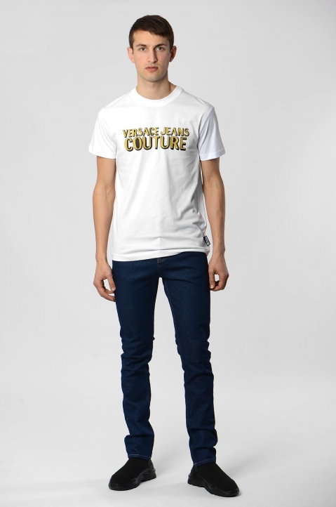 VERSACE JEANS COUTURE Golden Logo White Tee 2