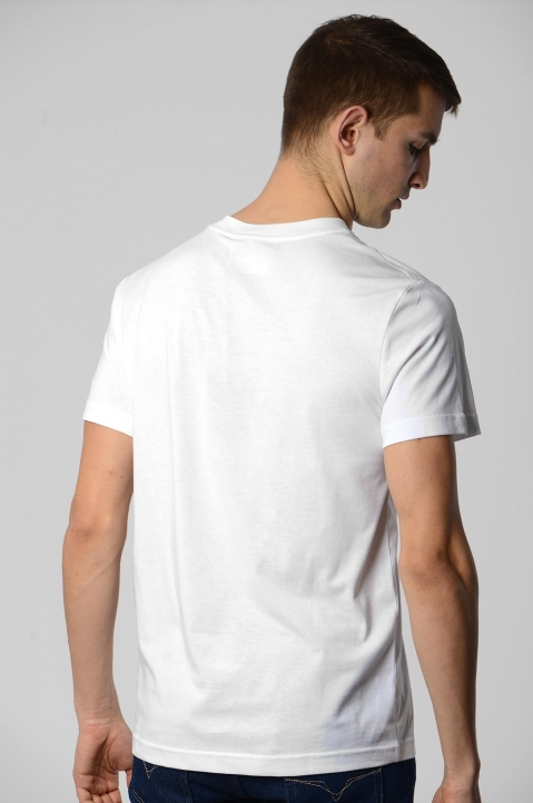 VERSACE JEANS COUTURE Golden Logo White Tee 1