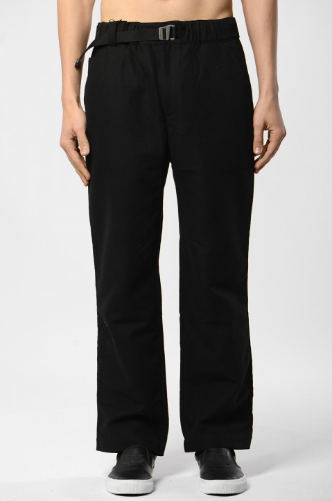 KENZO Straight Belted Black Trousers 1