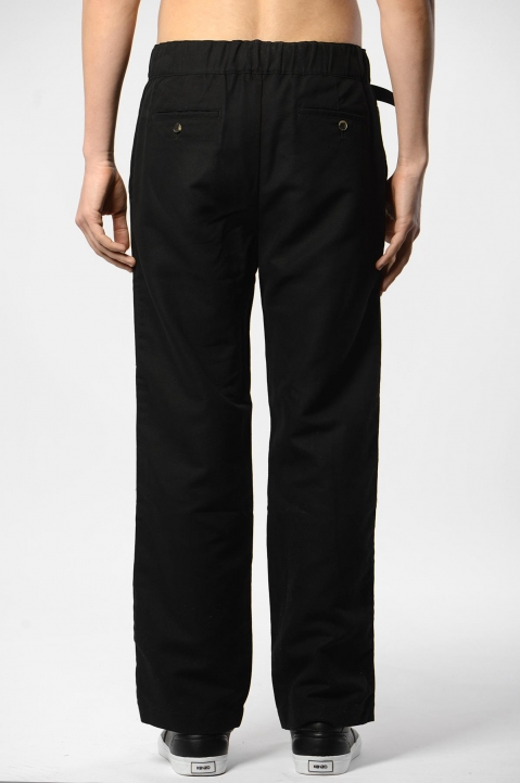 KENZO Straight Belted Black Trousers 2