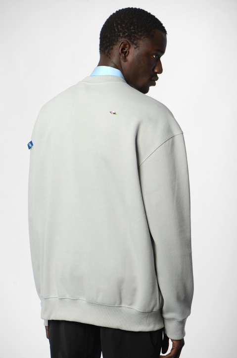 ADER ERROR Grey Tort.og Sweatshirt 1
