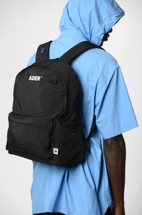 ADER ERROR Upside Down Black Backpack 6