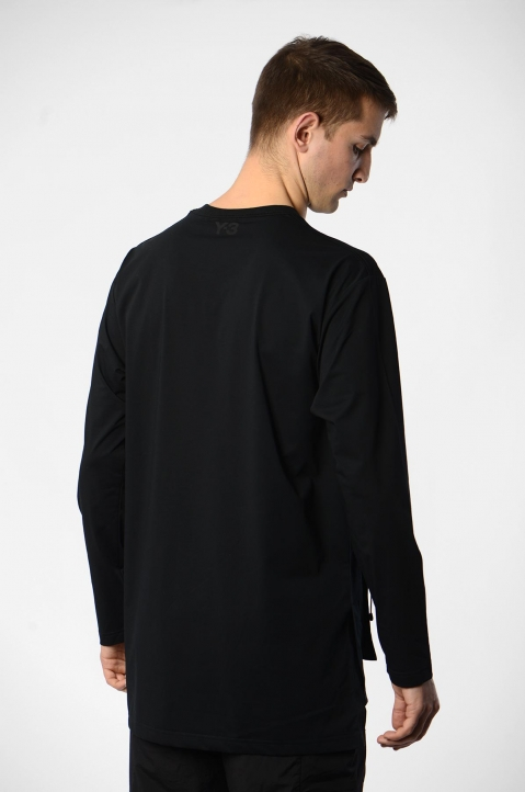 Y-3 Travel Black L/S Tee 1