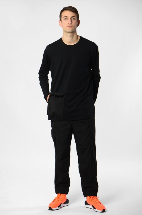 Y-3 Travel Black L/S Tee 3