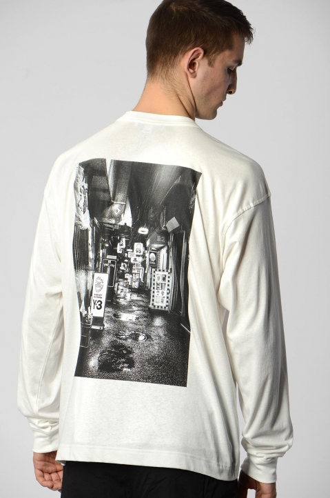 Y-3 Alley White L/S Tee 1