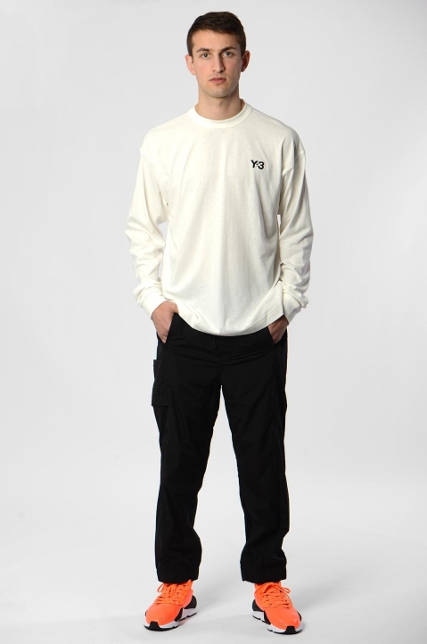 Y-3 Alley White L/S Tee 3