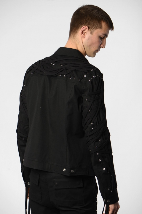 RICK OWENS Megalaced Worker Jacket  1