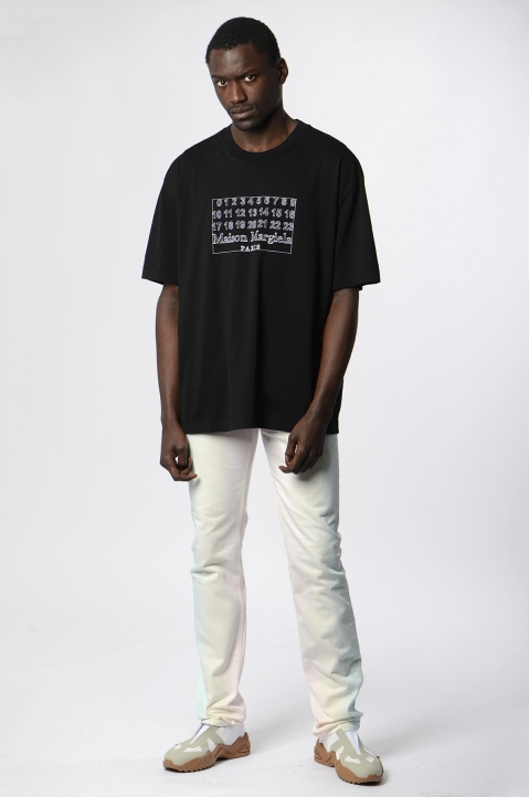 MAISON MARGIELA Join The Dots Black Tee 2