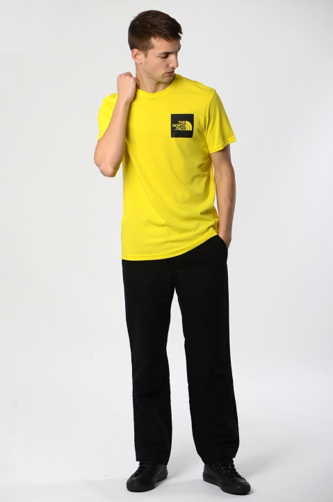 THE NORTH FACE Yellow Fine Tee 2