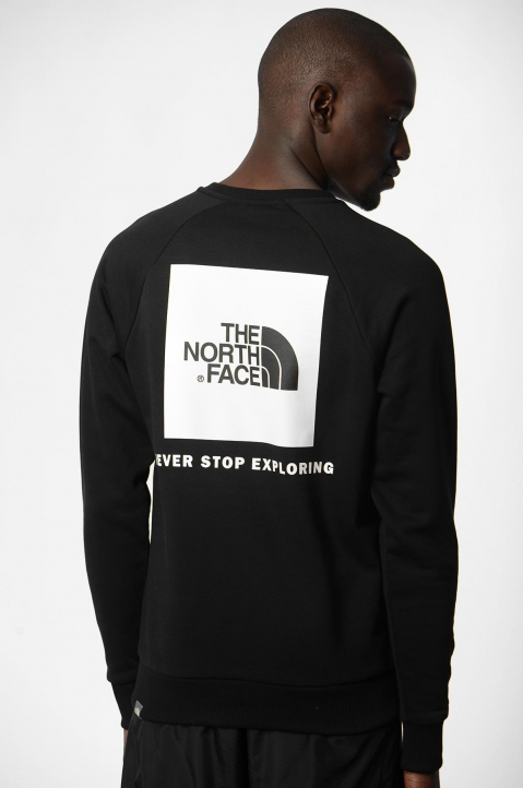 THE NORTH FACE Raglan Box Logo Black Sweatshirt 1