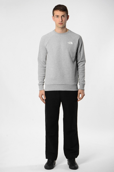 THE NORTH FACE Raglan Box Logo Grey Sweatshirt 2