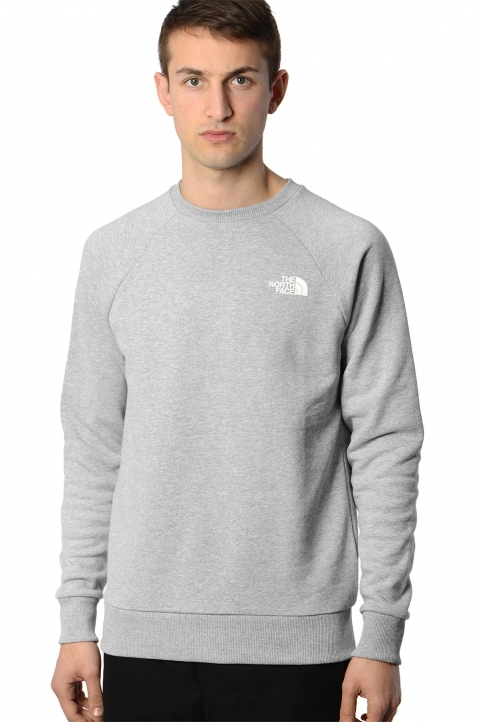 THE NORTH FACE Raglan Box Logo Grey Sweatshirt 0