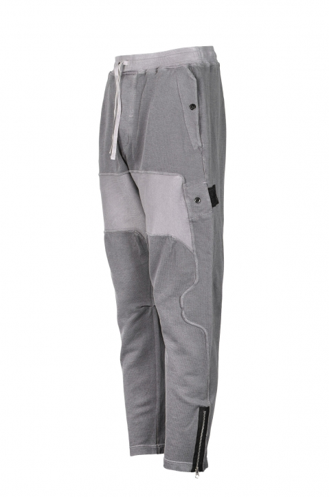 STONE ISLAND SHADOW PROJECT Grey Compact Cotton Trousers 1