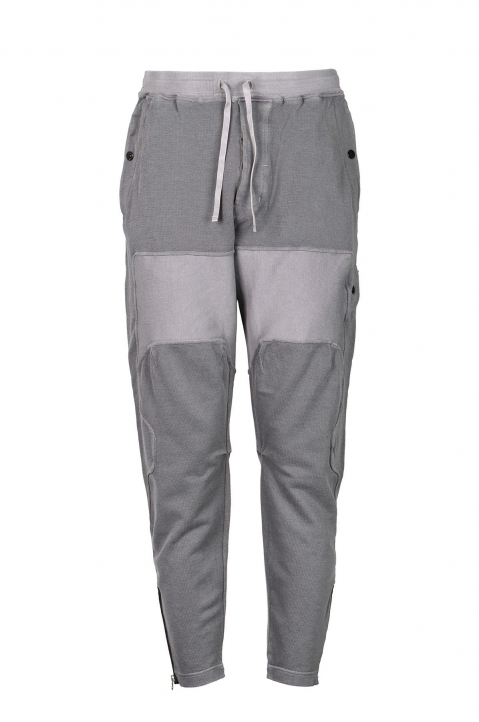 STONE ISLAND SHADOW PROJECT Grey Compact Cotton Trousers 0