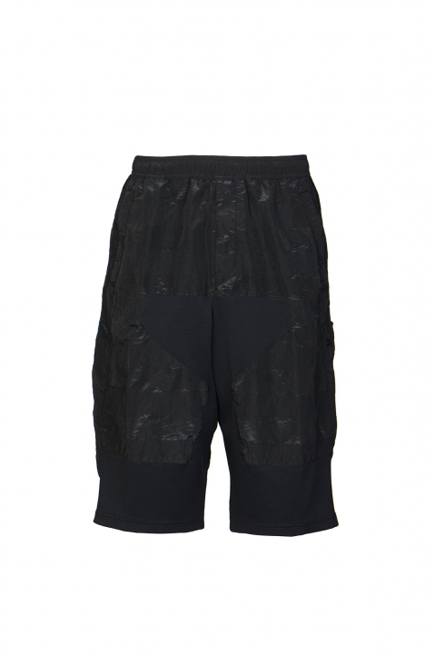 STONE ISLAND SHADOW PROJECT Striped Nylon Metal Black Bermudas 0