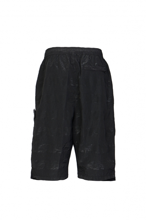 STONE ISLAND SHADOW PROJECT Striped Nylon Metal Black Bermudas 2
