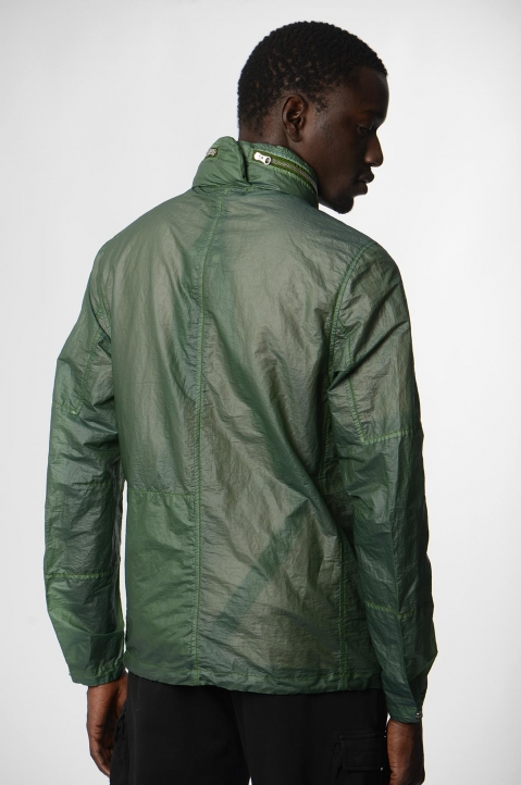 STONE ISLAND SHADOW PROJECT Green Translucent Field Jacket 1