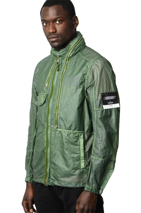 STONE ISLAND SHADOW PROJECT Green Translucent Field Jacket 0