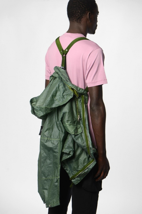 STONE ISLAND SHADOW PROJECT Green Translucent Field Jacket 4