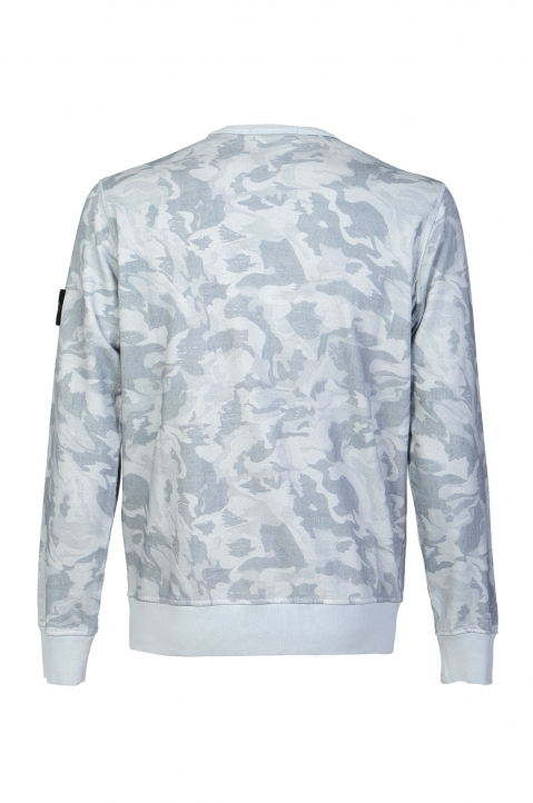 STONE ISLAND Blue Camo Sweater 1