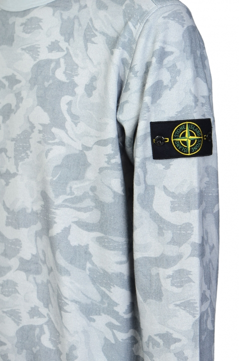 STONE ISLAND Blue Camo Sweater 2