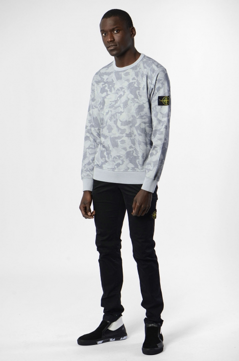 STONE ISLAND Blue Camo Sweater 3