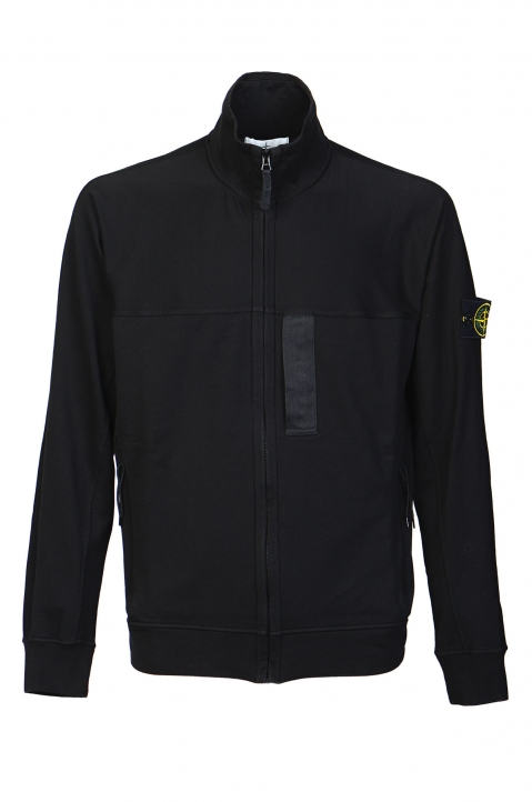 STONE ISLAND Black Fleece Jacket 0