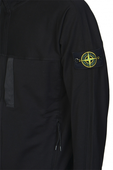 STONE ISLAND Black Fleece Jacket 2