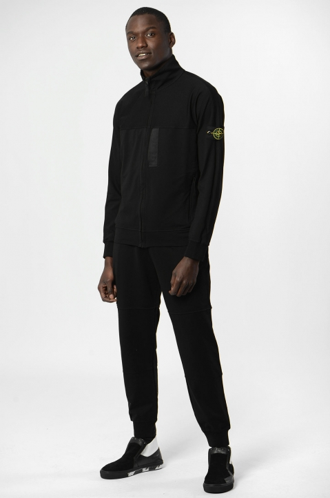 STONE ISLAND Black Fleece Jacket 3