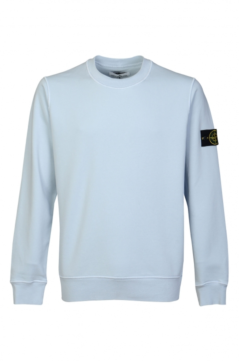 STONE ISLAND Blue Fleece Sweatshirt  0