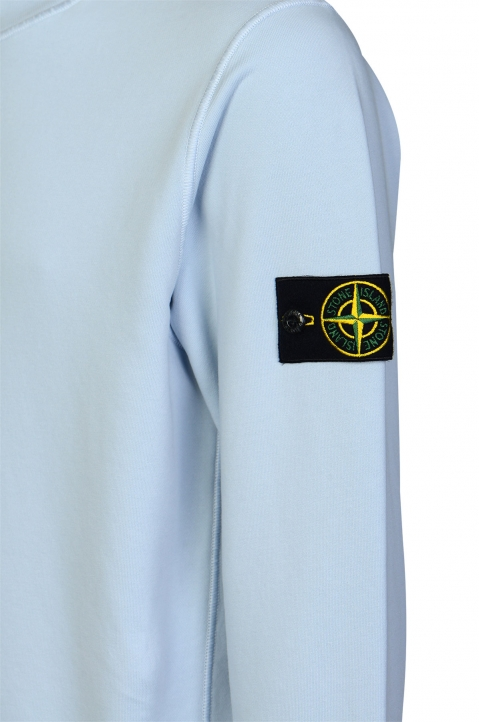 STONE ISLAND Blue Fleece Sweatshirt  2