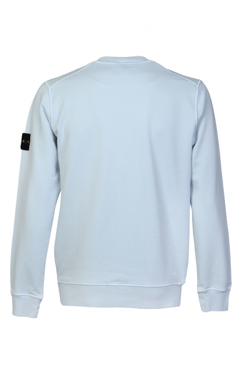 STONE ISLAND Blue Fleece Sweatshirt  1