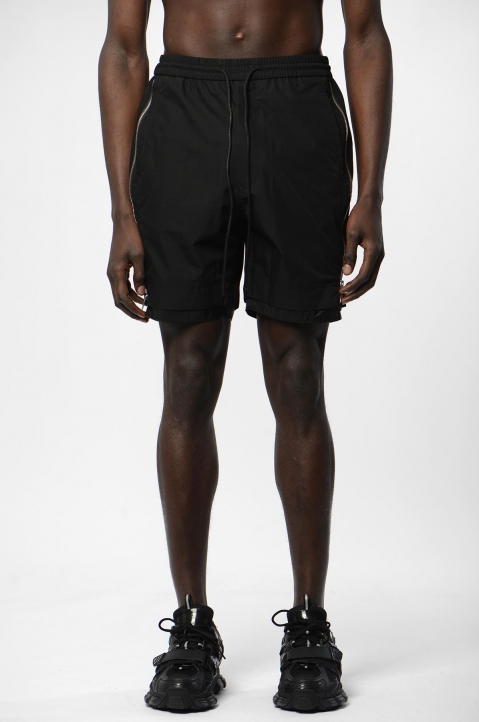 JUUN.J Black Zip Shorts 1