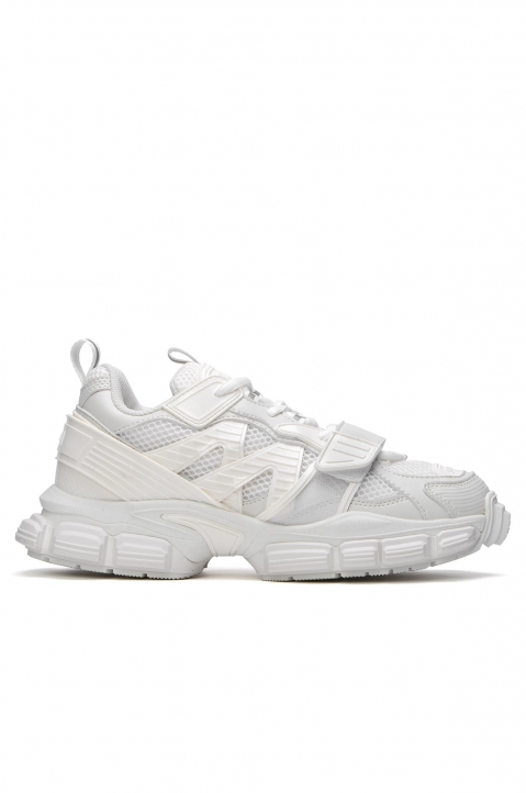 JUUN.J Panelled White Sneakers  0