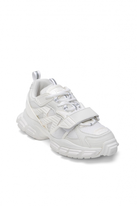 JUUN.J Panelled White Sneakers  1