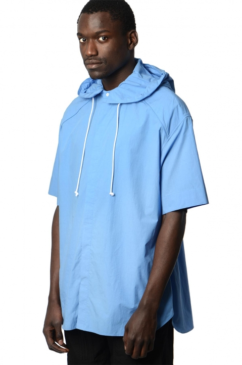 JUUN.J Hooded Blue Shirt 0