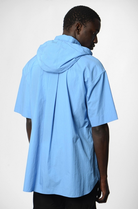 JUUN.J Hooded Blue Shirt 1