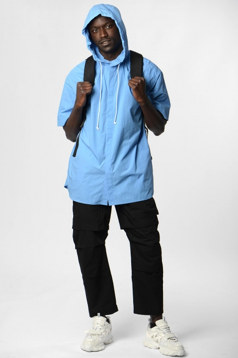 JUUN.J Hooded Blue Shirt 2