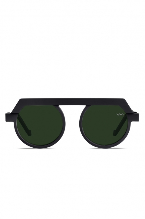 VAVA BL0021 Black Matte Sunglasses w/ Green Lenses 0