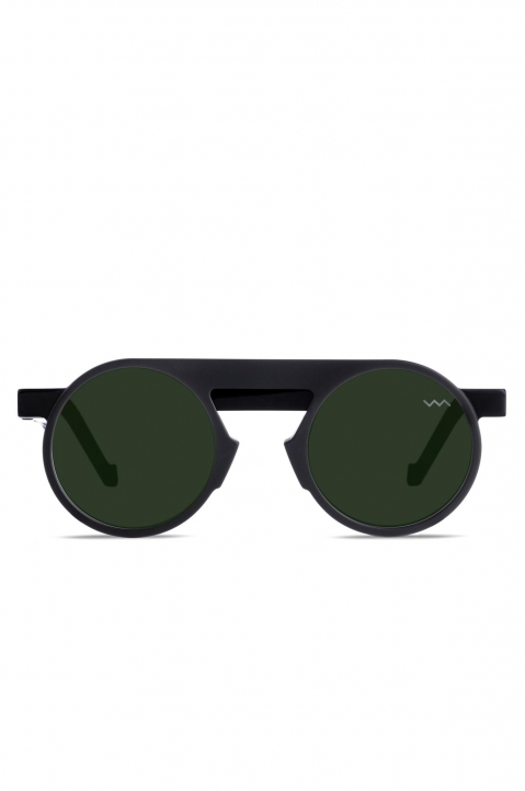 VAVA WL0024 Matte Black Sunglasses w/ Mirror Lenses 0