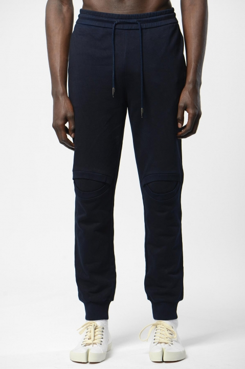 FENG CHEN WANG Navy Slit Knee Sweatpants 1