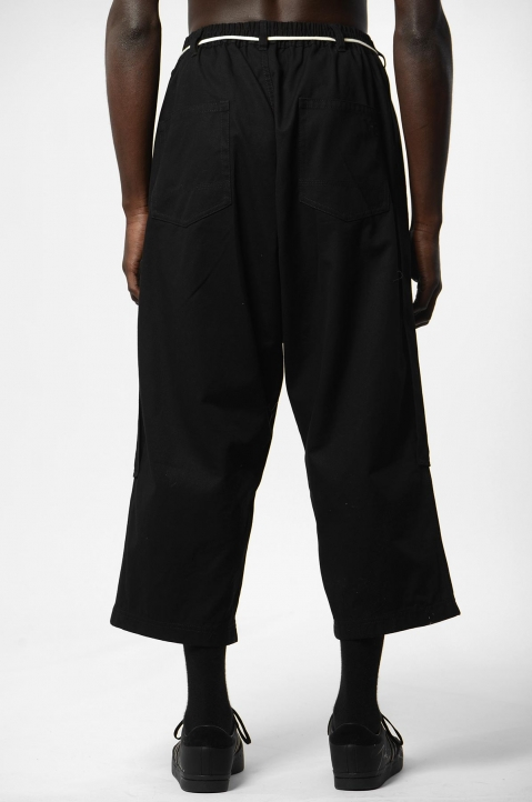 Y-3 Workwear Crop Black Trousers 2