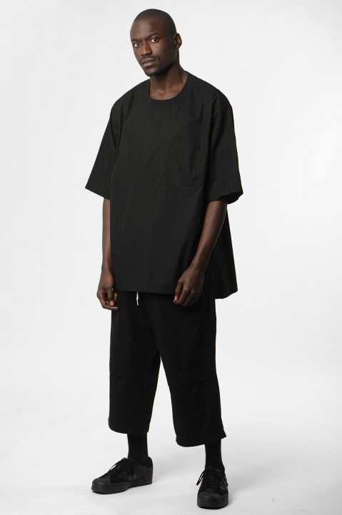 Y-3 Workwear Crop Black Trousers 3