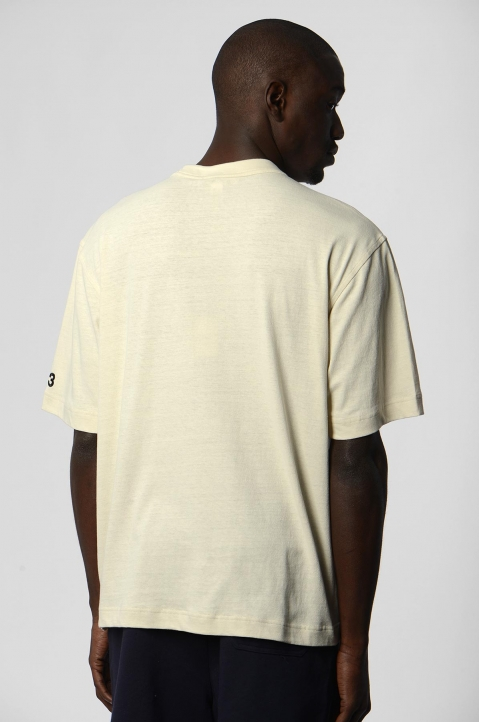 Y-3 Faded Signature Beige Tee 1