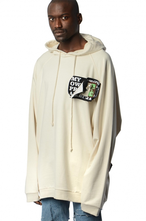 RAF SIMONS Oversized Patches & Pins Hoodie 0