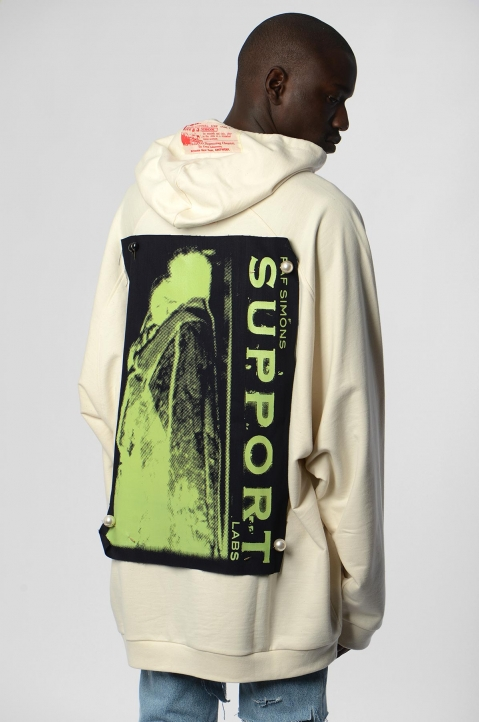 RAF SIMONS Oversized Patches & Pins Hoodie 1