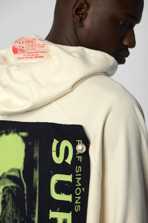 RAF SIMONS Oversized Patches & Pins Hoodie 2