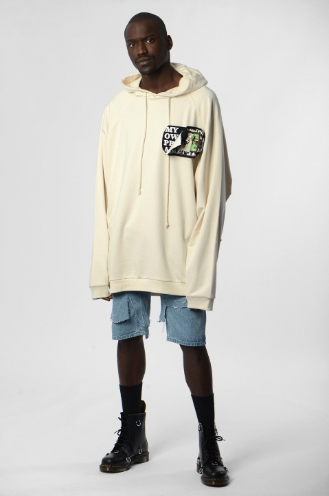 RAF SIMONS Oversized Patches & Pins Hoodie 4